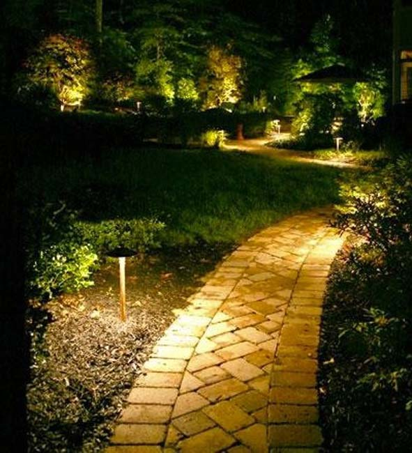 Landscape lighting led and solar garden lights energy efficient low voltage lighting is a must mozeypictures Image collections